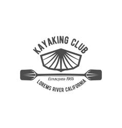 vintage rafting label badge or logotype vector image