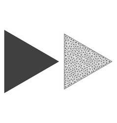 2d mesh play function and flat icon vector