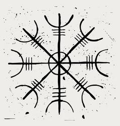 aegishjalmur helmet terror amulet vector image