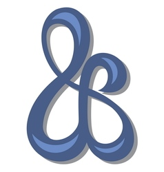 Ampersand symbol1 resize vector image