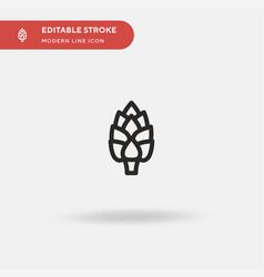 Artichoke simple icon symbol vector