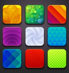 background for app icons-part 6 vector image