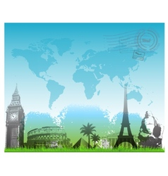 Beautiful Travel europe background vector image