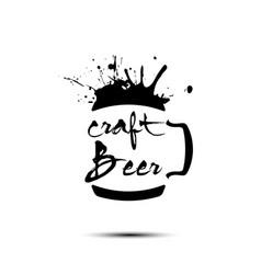 beer craft logo template design vector image