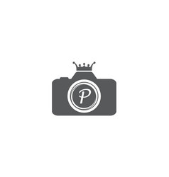 Best photography service letter p vector