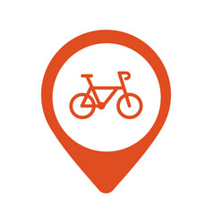 bicycle parking map pointer icon on white vector image vector image