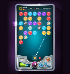 bubble game user interface vector image
