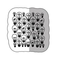 Bulb light energy background icon vector