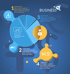 Business Infographics Diagram vector image
