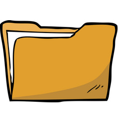 cartoon doodle folder vector image