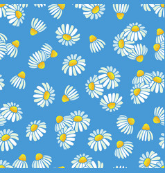 chamomile daisy pattern floral seamless vector image