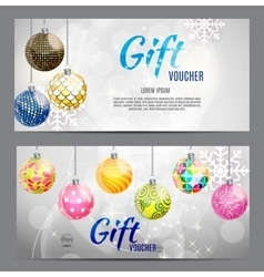 Christmas and New Year Gift Voucher Discount vector image