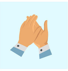 Clapping hand icon vector