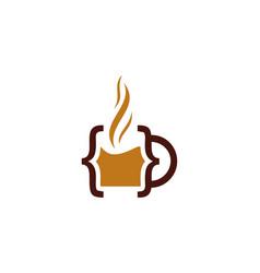 Code coffee logo icon design vector