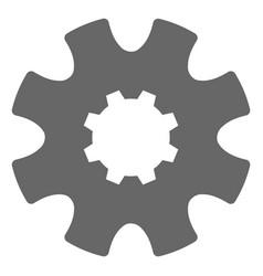 cog gear flat icon symbol vector image