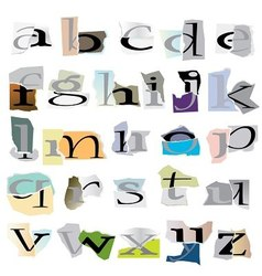 collage letters vector image