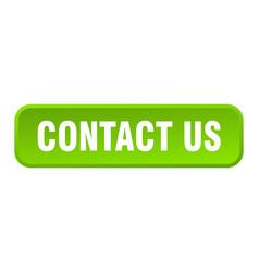 contact us button us square 3d push button vector image