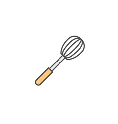 Corolla whisk icon kitchen appliances for cooking vector