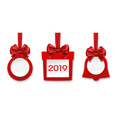 decorations made paper for year vector image
