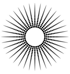 Dotted radial motif shape abstract design element vector
