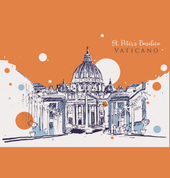 drawing sketch vatican vector image