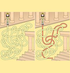 Egyptian queen maze vector