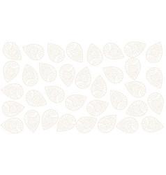 Elegant indian paisley pattern white background vector