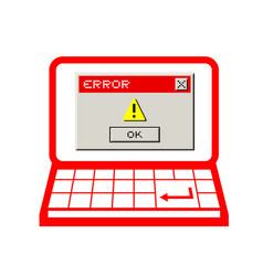 error pc vector image