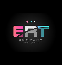 ert e r t three letter logo icon design vector image