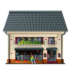 Exterior city cafe vector