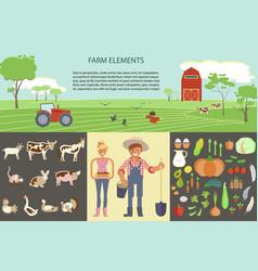 Farming infographic elements vector