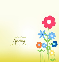 Flower colorful background vector