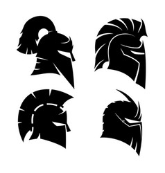 four knights helmets vector image