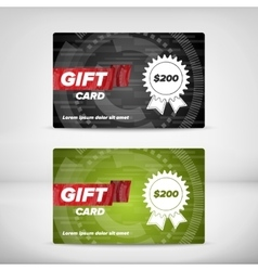 Gift card template vector image