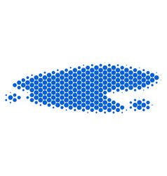 Halftone dot puddle icon vector