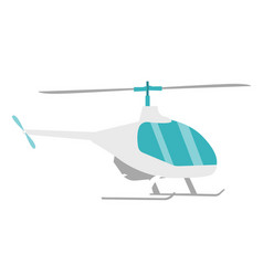 helicopter cartoon vector image