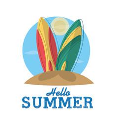 Hello summmer card vector