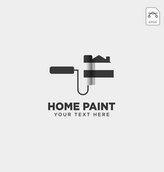 Home paint brush colorful logo template icon vector