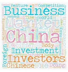 How to do business in China text background vector image