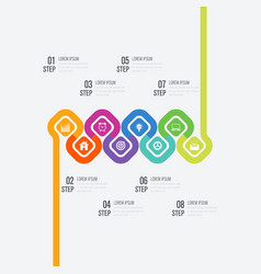 Infographics 8 options vector