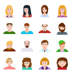 isolated object avatar and people icon set of vector image