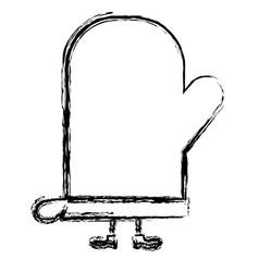 Kitchen glove kawai character vector
