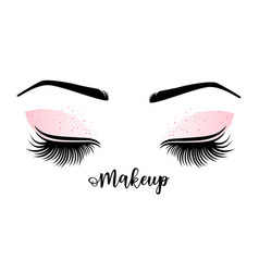 Lashes and brow vector