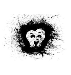lion in grunge style element for your design lion vector image