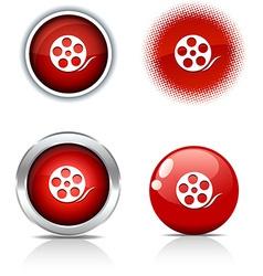 Media buttons vector