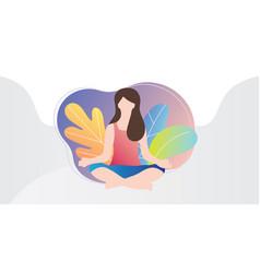 Meditation colorful modern vector