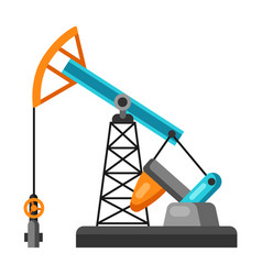 oil pumpjack vector image