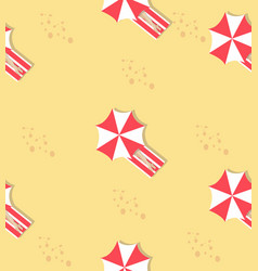 people sleeping with summer beach pattern vector image