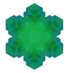 Polygonal Green Symbol vector image