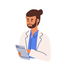Professional doctor or medical student using vector